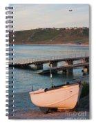 Sennen Cove Boat At Sunset Spiral Notebook