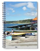 Sennen Cove Lifeboat And Pilot Gigs Spiral Notebook