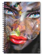 Sensual Eyes Autumn Spiral Notebook
