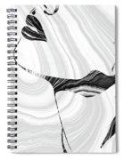 Sensual Portrait Art - Marbled Seduction - Sharon Cummings Spiral Notebook