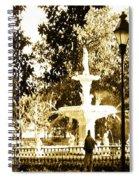 Sepia Afternoon Forsyth Park Fountain In Savannah Georgia Usa  Spiral Notebook