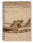 Sepia Chairs Spiral Notebook