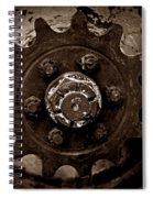 Sepia Gear Spiral Notebook