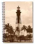 Sepia Light House  Spiral Notebook