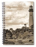 Sepia Lighthouse Spiral Notebook