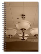 Sepia Lights Spiral Notebook