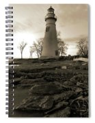 Sepia Marblehead Lighthouse Spiral Notebook