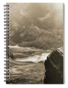 Sepia Moody River Spiral Notebook