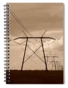 Sepia Power Spiral Notebook