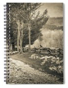 Sepia Road Spiral Notebook