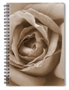 Sepia Rose Spiral Notebook