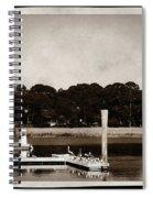 Sepia Tone Lagoon Spiral Notebook