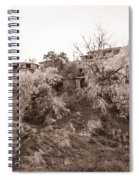 Sepia-toned Blooming Almond Trees Of Fikardou Village 2 Spiral Notebook
