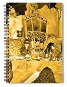 Sepia Toned Glass Slipper Spiral Notebook