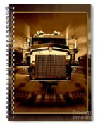 Sepia Toned Kenworth Abstract Spiral Notebook