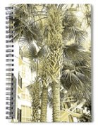 Sepia Toned Pen And Ink Palm Trees Spiral Notebook