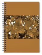 Sepia Toned Pink Bevy Of Beauties In Grayscale Spiral Notebook