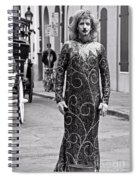 Sequined Mime In Black And White Spiral Notebook