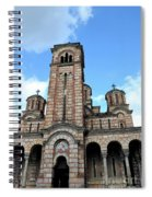 Serbian Orthodox Church Of Saint Mark Belgrade Serbia Spiral Notebook
