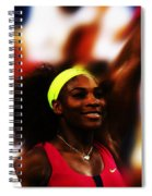 Serena Williams Another Record Set Spiral Notebook