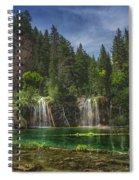 Serene Hanging Lake Waterfalls Spiral Notebook