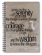 Serenity Prayer 01 Spiral Notebook