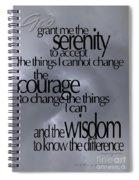 Serenity Prayer 05 Spiral Notebook
