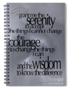 Serenity Prayer 05 Spiral Notebook