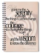 Serenity Prayer 06 Spiral Notebook