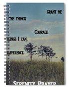Serenity Prayer Field Spiral Notebook