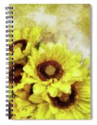 Serenity Sunflowers Spiral Notebook