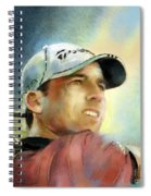 Sergio Garcia In The Castello Masters Spiral Notebook