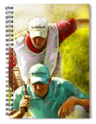 Sergio Garcia In The Madrid Masters Spiral Notebook