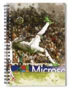 Sergio Ramos Tries To Score A Goal  Spiral Notebook