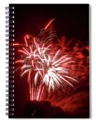 Series Of Red And White Fireworks Spiral Notebook