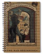 Series Of Unfortunate Events Book The First Typography Cover Using Every Word Of Text Spiral Notebook