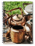 Set Of Ancient Teapots  Spiral Notebook