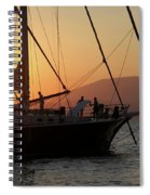 Set Sail On The Aegean At Sunset Spiral Notebook