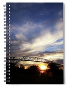 Setting Sun And Cloudy Skies Spiral Notebook