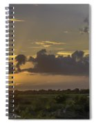 Setting Sun Before The Storm Spiral Notebook