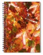 Seurat-like Fall Leaves Spiral Notebook