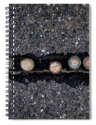 Seven Bottle Caps Spiral Notebook