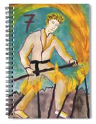 Seven Of Wands Illustrated Spiral Notebook