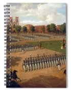 Seventh Regiment On Review. Washington Square. New York Spiral Notebook