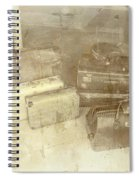 Several Vintage Bags On Floor Spiral Notebook