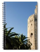 Seville - A View Of Torre Del Oro 2 Spiral Notebook