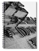 Seville - Giralda In Black And White Spiral Notebook