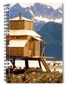 Seward Alaska House Of Stilts Spiral Notebook