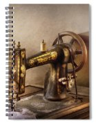 Sewing - A Black And White Sewing Machine  Spiral Notebook