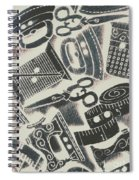 Sewing Scenes Spiral Notebook